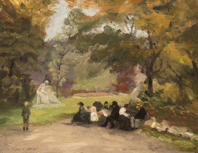 , 'Figures in the Luxembourg Gardens,' c. 1896 or 1898, Godel & Co.