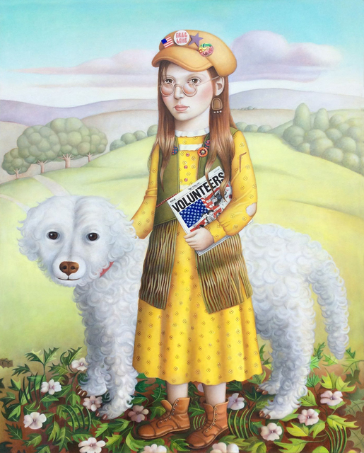 , 'Girl with Dog and Album,' 2018, Front Room Gallery