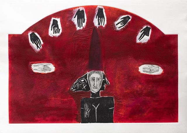 Mimmo Paladino, 'Alceo', 1990, Print, Screenprint, etching, carborundum and embossing, Goldmark Gallery