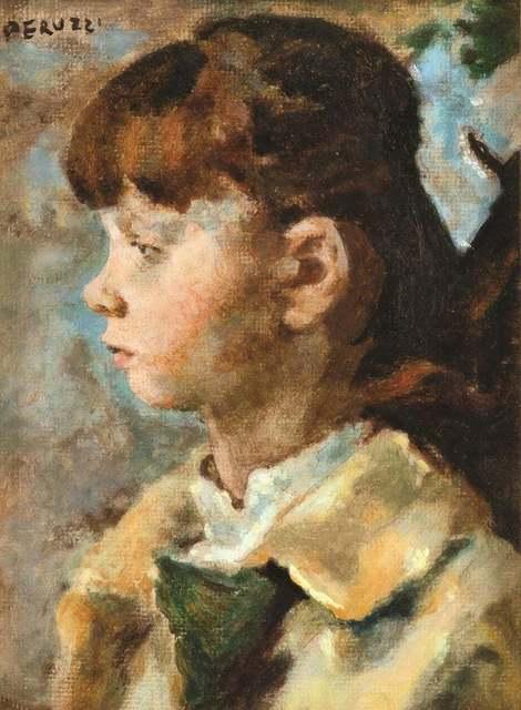 Cesare Peruzzi, 'Portrait of a Girl', 1972, Wallector