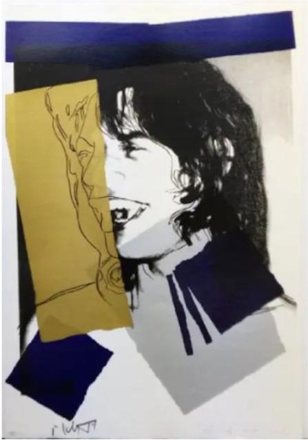 Andy Warhol, 'Mick Jagger F.S. II 142', 1975, Print, Screen print, Lush Art Agency