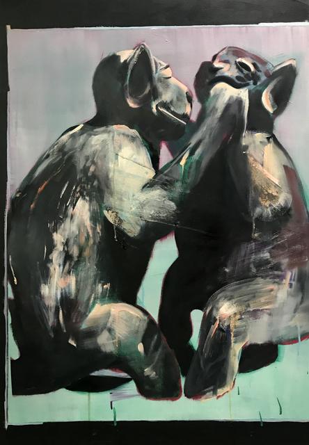 """, '""""Pintura 11 para imagem rupestre (ritual/sexo) - Escultura pré-colombiana"""" ,' 2017, Baró Galeria"""