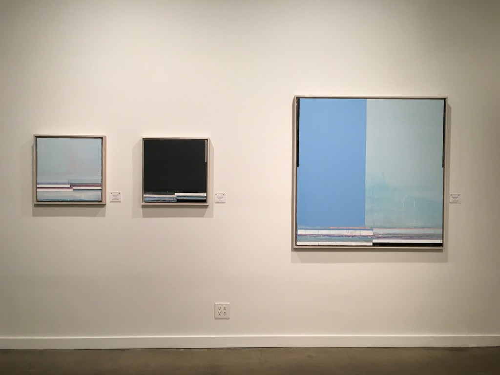 "Mark Zimmermann (left to right) ""Angel Song (Pond)"", ""Forge"" and ""Waimea"""