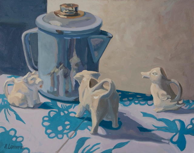 , 'Coffee Getting Creamed,' 2015-2019, Copley Society of Art