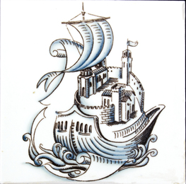 Tile with sailor