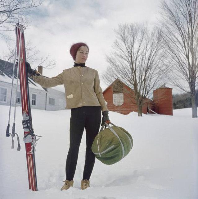 Slim Aarons, 'Skiing In Stowe', 1962, IFAC Arts