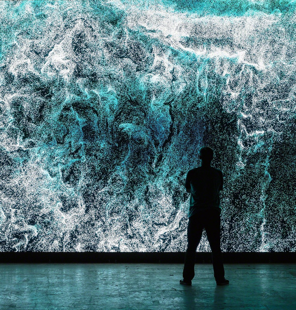Clifford Ross: Digital Waves Installation