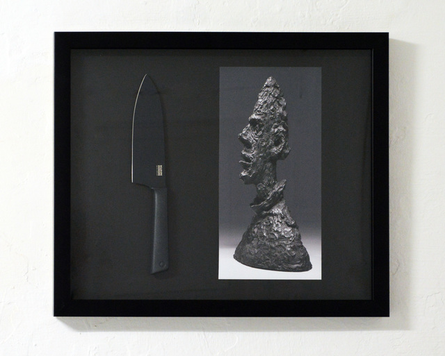 , 'SCULPTURE OF GIACOMETTI AND BLACK KNIFE,' 2018, Hans & Fritz Contemporary