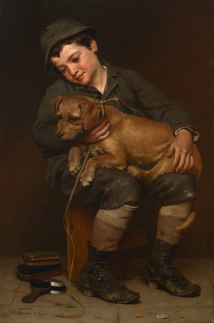 John George Brown, 'Can't Get Acquainted', 1888, Debra Force Fine Art