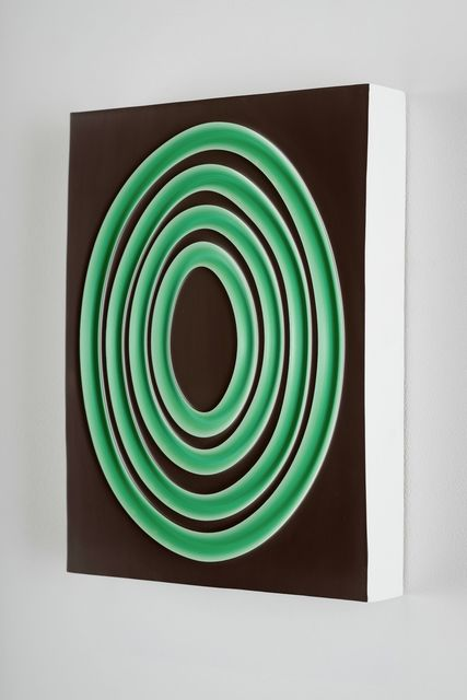, 'Green Rings on Brown,' 2016, Monte Clark Gallery