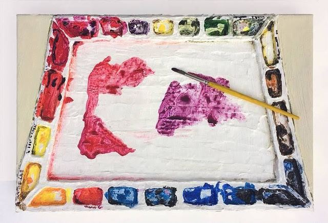 , 'Watercolor pallet,' 2011, The FLAG Art Foundation