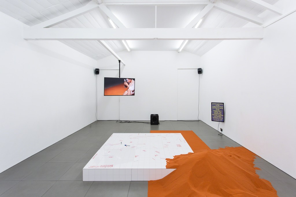 YGRG14X: reading with the single hand V, Installation View, 2018, Dorota Gawęda & Eglė Kulbokaitė