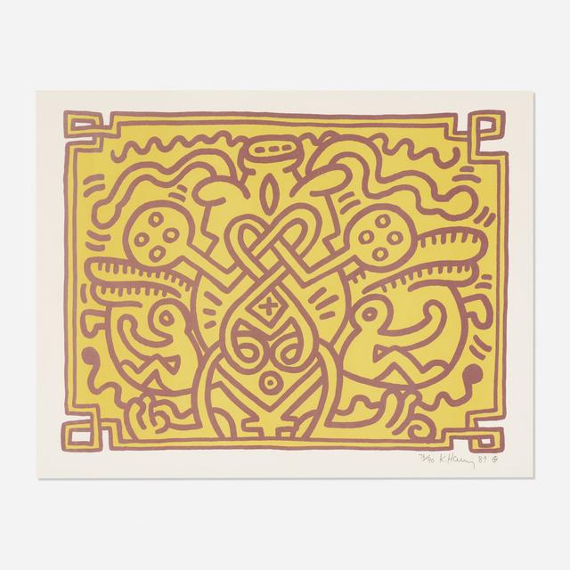 Keith Haring, 'Chocolate Buddha 4', 1989, Wright