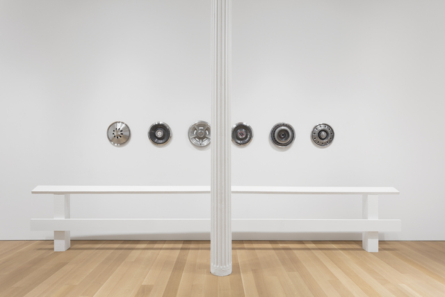 , 'Guide Rails with Hubcaps,' 2017, Alexander and Bonin