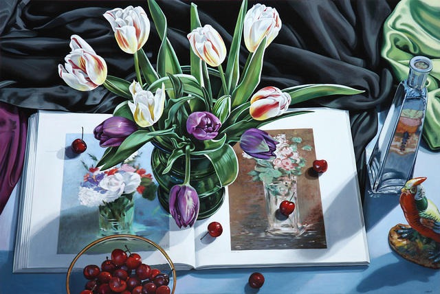 , 'Tulips with Book on Manet,' 2017, Russo Lee Gallery