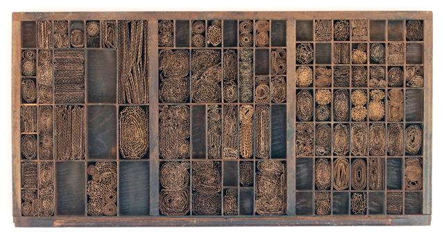 , 'Cajón tipográfico con cartón,' 2010, Piero Atchugarry Gallery