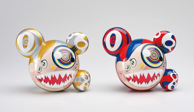 Takashi Murakami, 'ComplexCon: Mr. Dob (Red/Blue); and ComplexCon: Mr. Dob (Gold)', 2016-17, Phillips