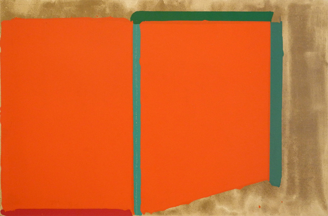 John Hoyland, 'Reds, Greens (also known as Large Swiss Red)', 1969, Charles Nodrum Gallery