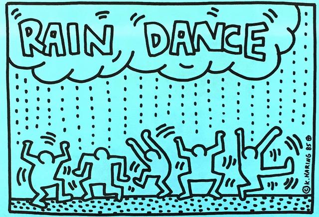 Keith Haring, 'Rain Dance', 1985, Lot 180