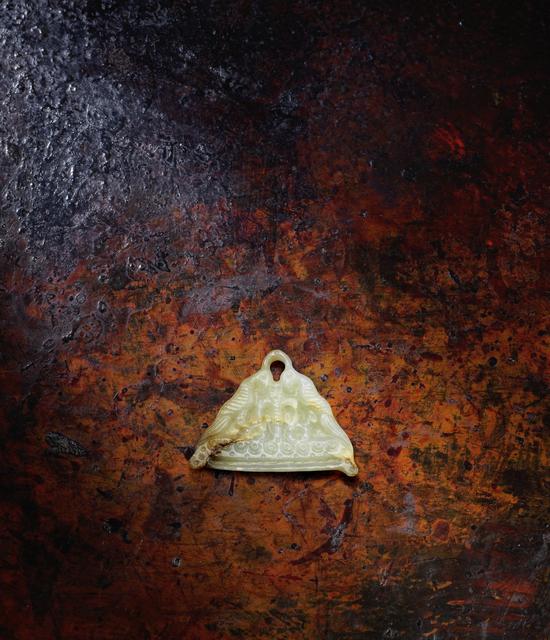 , 'Ordos White Jade Plaque or Pendant,' Northern China or Inner Mongolia (3rd–1st century BCE), Rasti Chinese Art