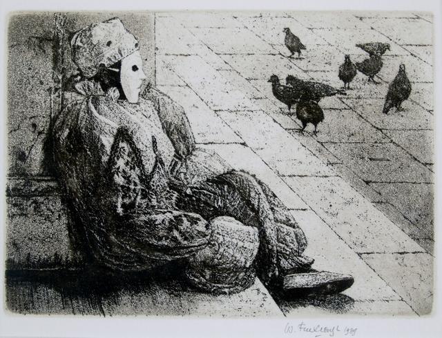 Wilfred Fairclough, 'Carnival Piazza, Venice', 1989, Private Collection, NY