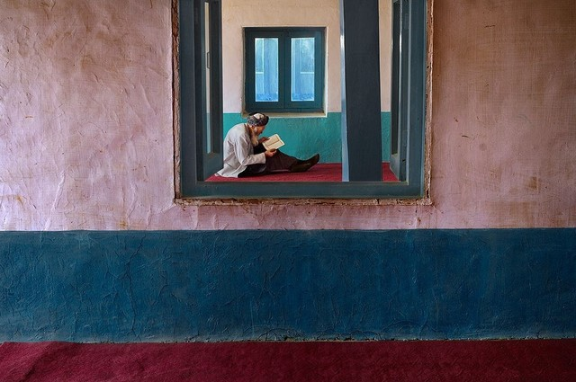Steve McCurry, 'Man in Bamiyan Mosque, Afghanistan', Etherton Gallery