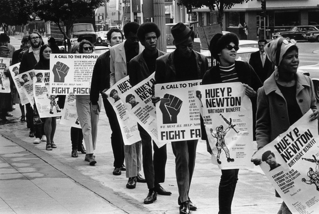 , 'Untitled (Black Panther/Huey Newton protest, downtown Los Angeles),' 1970, Kohn Gallery
