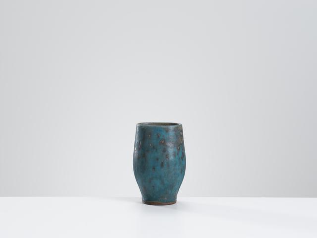 , 'Vase with mottled turquoise & grey glaze ,' , Oxford Ceramics Gallery