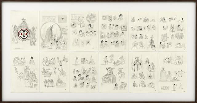 , 'Une Danse Des Bouffons or (A Jester's Dance) Story Board,' 2013, Sies + Höke