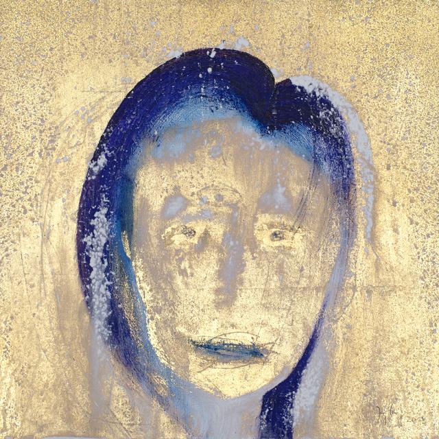 , 'Gesicht (Goldgrundiger),' 2018, Galerie Valentien