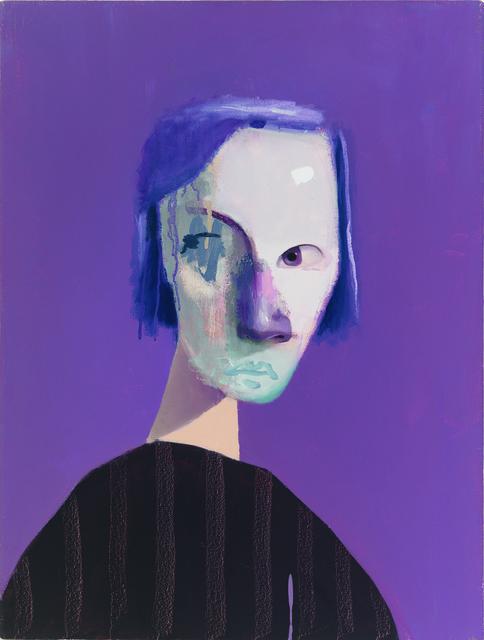 , 'Untitled Portrait with Nine Stripes and Purple Drip,' 2009, envoy enterprises
