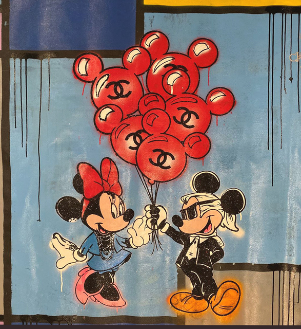 , 'Mickey and Minnie's Balloons with Mondrian,' 2019, Avant Gallery