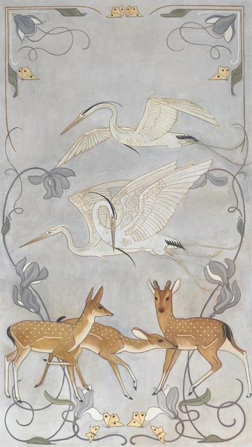 , 'Cranes and deer,' 1899, Mireille Mosler Ltd.
