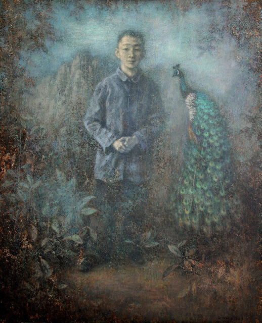 , 'Boy with the Peacock ,' 2019, Karin Weber Gallery