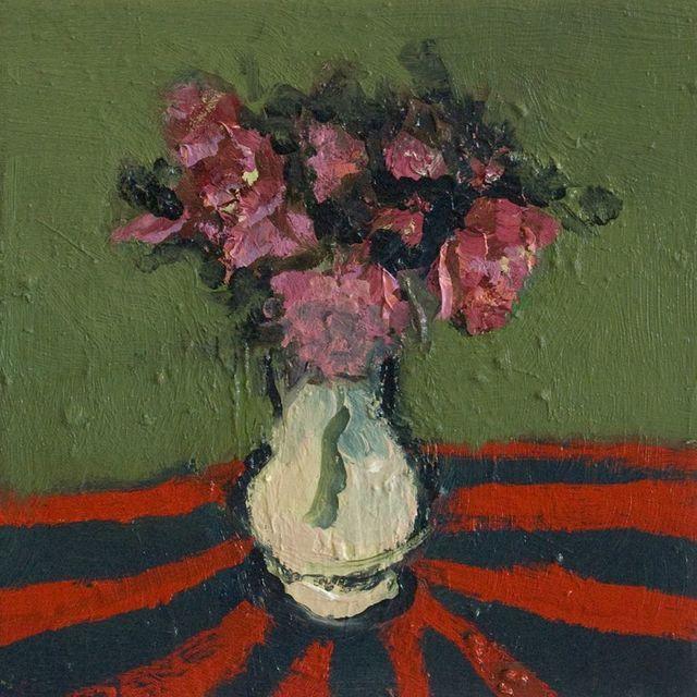 , 'White Pot on Red Stripes,' 2016, Galerie de Bellefeuille