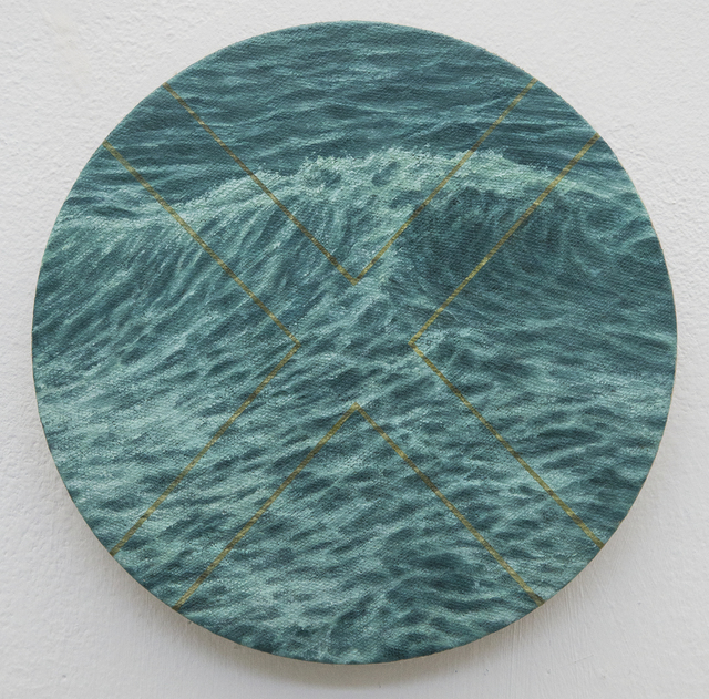 , 'blue green Arctic sea gold X,' 2017, Ro2 Art