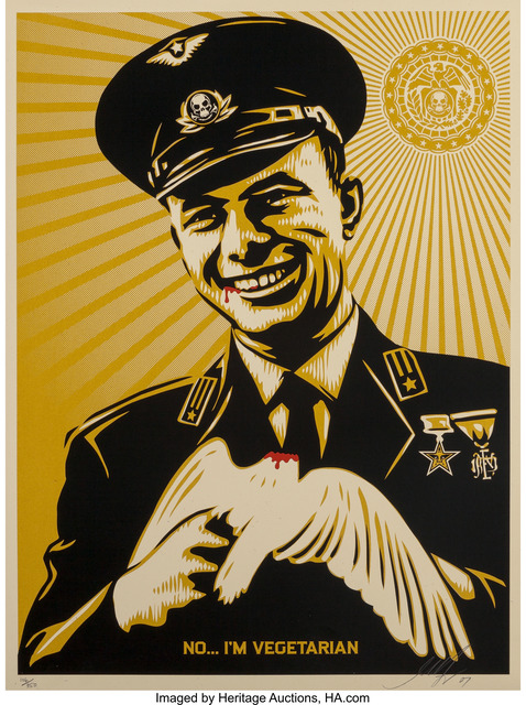 Shepard Fairey (OBEY), 'No, I'm Vegetarian', 2007, Heritage Auctions