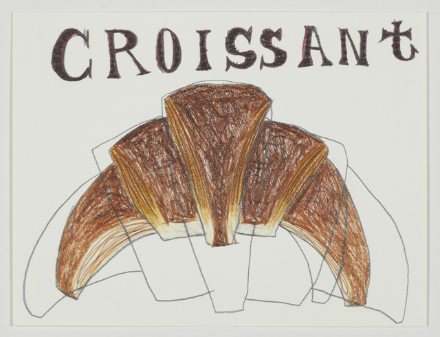 Shintaro Miyake, 'Croissant', 2013, Drawing, Collage or other Work on Paper, Pencil, color pencil on paper, Tomio Koyama Gallery