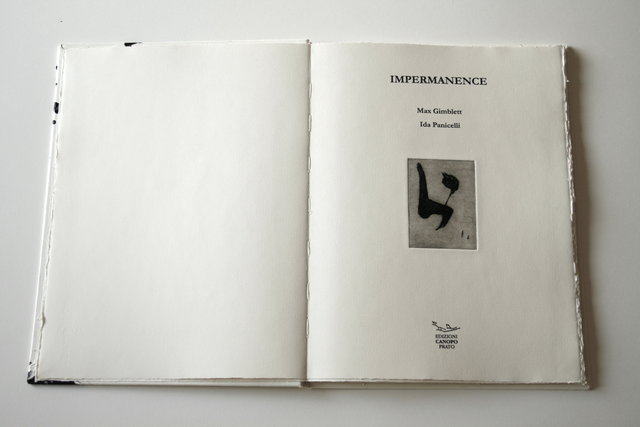 Salvatore Mazza, 'IMPERMANENCE: Eight etchings of MAX GIMBLETT and Five unpublished poems of IDA PANICELLI', 2014, Jason McCoy Gallery
