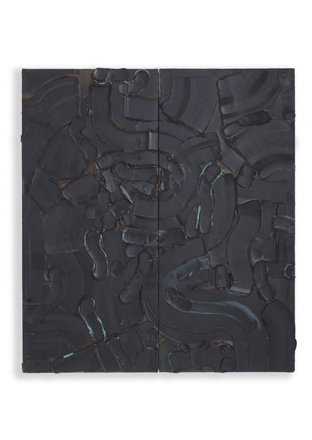 , '3 Blacks, Brown & Green,' ca. 2017, Parlor Gallery