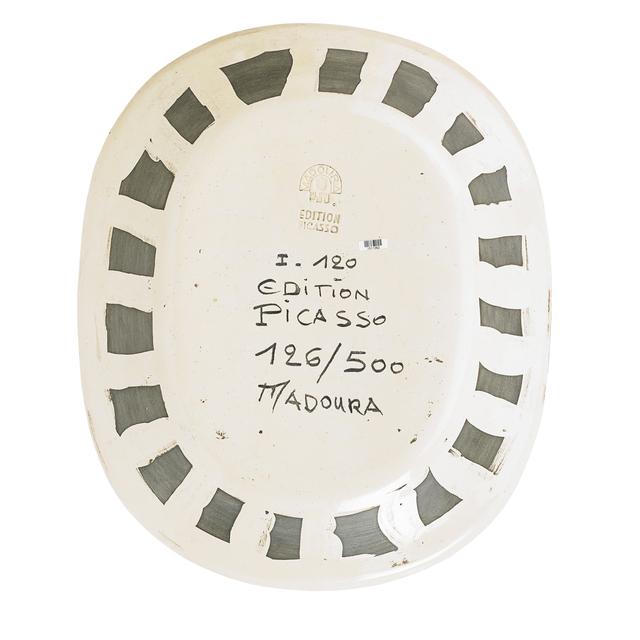 Pablo Picasso, 'Plate, Woman's Face (Visage de Femme), France', des. 1955, Design/Decorative Art, Glazed and incised earthenware, Rago/Wright