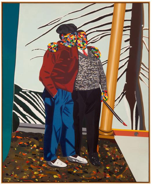 Eduardo Arroyo, 'PEINTRES CONTENTS D'EUX MÊMES', 1977, Painting, Oil on canvas, Galerie Michael Hasenclever