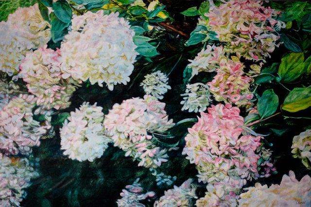 , 'Hydrangeas,' 2018, Wallace Galleries