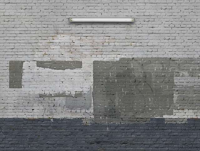 , 'Tranformatoren-Haus-Wand/Neonlicht,' 2011-2013, Galerie Nikolaus Ruzicska