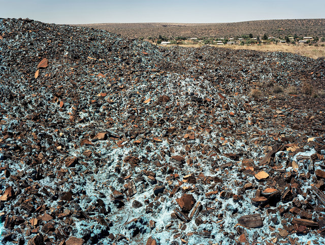 , 'Blue asbestos waste on the Owendale Asbestos Mine tailings dump. Near Postmasburg, Northern Cape, 21 December 2002,' 2002, Goodman Gallery
