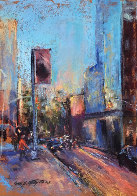 Susan M Story, 'City Glow', 2018, Painting, Pastel, The Galleries at Salmagundi
