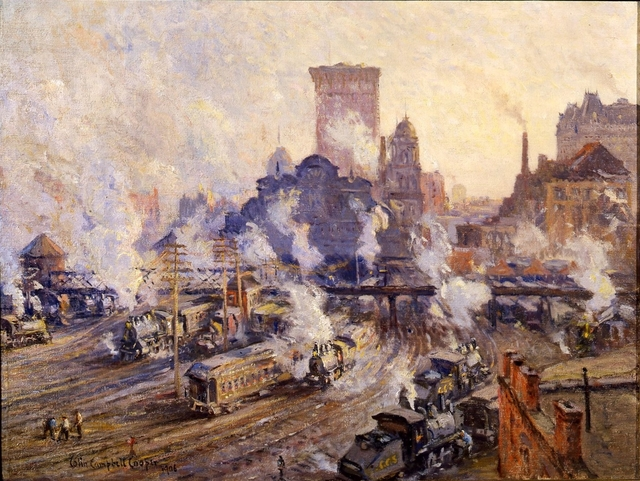 , 'Old Grand Central Station,' 1906, Montclair Art Museum