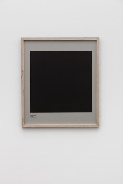 , 'Loop Holes (Joaquin El Chapo Guzman, July 11. 2015, Altiplano Maximum Prison, Mexico, hole measures 50 x 50 cm),' 2016, Galleri Nicolai Wallner