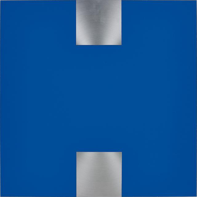 Getulio Alviani, 'Contrappunto nel blu', 1978 -2000, Mixed Media, Aluminum and laminate on wood, Phillips