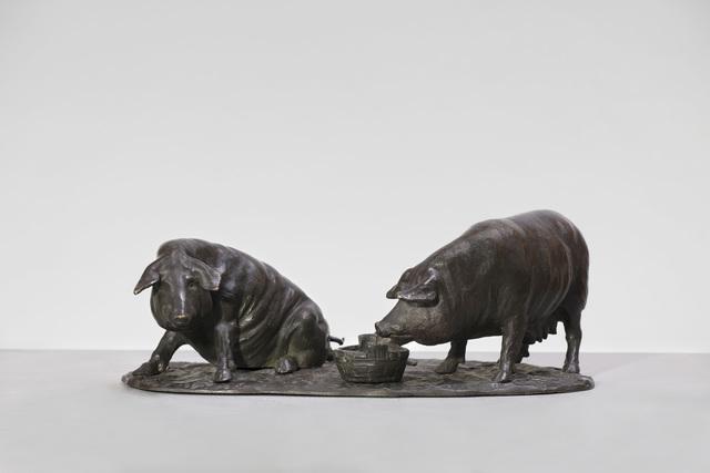 , 'Pigs,'  Italy-early 20th century, Brun Fine Art